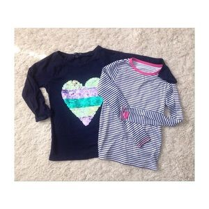 Other - Set of 2 Girl's LS t-shirts size 7-8